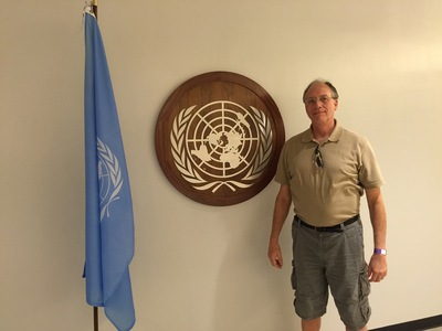 Russel Hirst at UN office in NYC