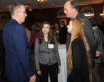 Hirst and his students talk with General John Hyten, commander of US Strategic Command
