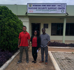 IJNS Book Review Editor and Govt. of India official, Arjun Banerjee, with local staff, Accra, Ghana