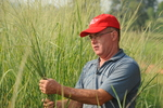 Brad Black with Switchgrass