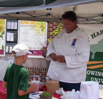 Chef John Antun at a Cooking Demonstration at the UT Farmers Market