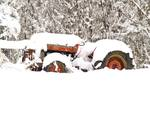 Snow Even Makes Old Tractors Look Good!