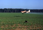 Aerial application to cotton