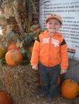 Little Vol Fan Visiting the UT Gardens for Lunch & Pumpkins