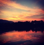Sunset on the River by Elizabeth Danielle Lowrey